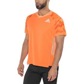adidas AdiZero Kortärmad löpartröja Herr orange